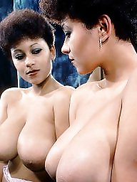 Vintage, Ebony, Black, Retro, Busty, Ebony boobs