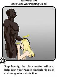 Interracial cartoon, Interracial cartoons, Black cock, Femdom cartoons, Worship, Female