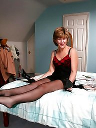 Dressed, Mature stockings, Uk mature, Dressing
