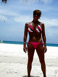 Bikini, Mature hot, Mature beach, Beach mature