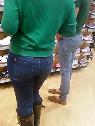 Jeans, Candid, Tights, Tight ass, Butts, Tight