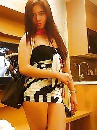 Hubby, Hairy asian, Asian stockings, Asian hairy