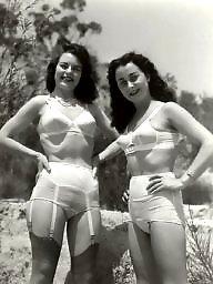 Lingerie, Lady, Stocking, Vintage lingerie, Amateur lingerie, Vintage amateur