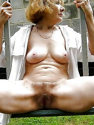 Outdoor, Outdoors, Open, Hairy pussy, Public nudity, Coat
