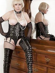Latex, Pvc, Leather, Mom, My mom, Mature leather