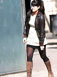 Stockings, Street, Nylons, Upskirts
