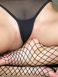 Feet, Teen feet, Fishnet, Amateur feet, Amateur tits, Woman
