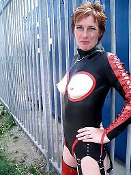 Leather, Pvc, Latex, Mature pvc, Mature latex, Milf leather