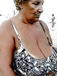 Granny, Granny boobs, Busty, Big granny, Granny beach, Amateur granny