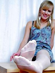 Nylon feet, Nylon, Nylons, Stocking feet, Feet nylon
