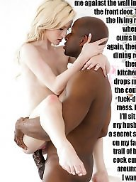 Interracial, Captions, Caption, Cock, Black cock, Black milf