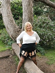Milf stockings, Bbw stockings, British, Stockings milf, Blonde milf, Bbw stocking