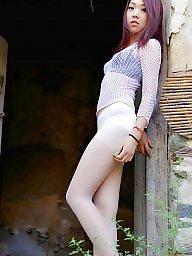 Chinese, Sweet, Chinese girl, Asian stockings