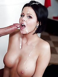 Big tits, Facial, Tits, Face, Cum on tits, Big