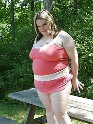 Upskirt, Bbw upskirt, Pink