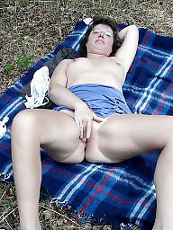 Mature nude, Wood, Mature public, Woods, Nude mature