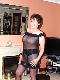 Old and young, Seethrough, Fishnet, Young and old, Old milf