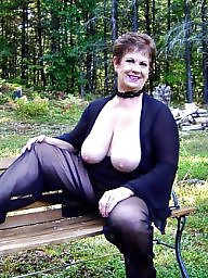 Outdoors, Mature outdoor, Voyeur mature