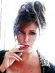 Smoking, Smoke, Busty milf