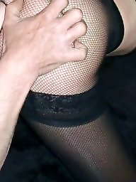 Mature hairy, Trio, Hairy stockings