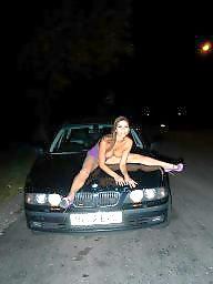 Car, Hot, Posing, Cars, Public nudity