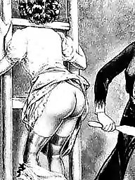 Bdsm, Panty, Comix, Bdsm cartoon, Art, White panties