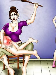 Spanking, Spanked, Spank, Art, Hardcore cartoon, Female