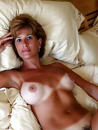 Mature, Tanned, Mature hairy, Tits, Tan lines