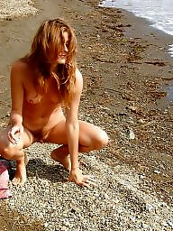 Beach, Redhead, Hairy, Helen, Redheads