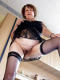 Granny mature, Slutty, Granny stockings