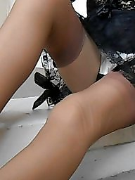 Nylon, Nylons, Tanned, Upskirt stockings, Nylon upskirt