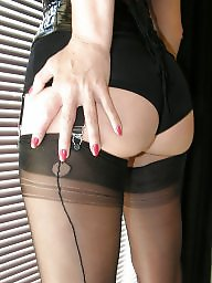 Nylon, Milf stockings, Nylons, Brunette, Nylons milf, Milf stocking