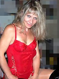 Lady, Blonde milf, Red, Lady milf