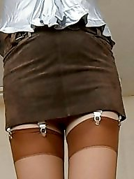 Satin, Stocking, Blouse, Porn, Miniskirt