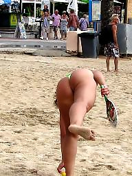 Ass, Beach, Thongs, Beach ass