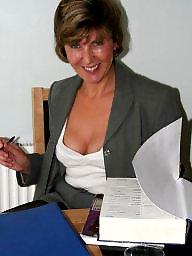 Office, Uk mature, Stocking, Mature office, Mature uk