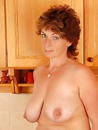 Hairy mature, Kitchen, Hairy milf, Mature boobs, Posing, Mature posing