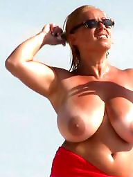 Vacation, Mature beach, Beach, Mature boobs, Beach mature, Mature horny
