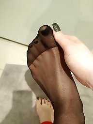 Feet, Nylons, Nylon feet, Nylon, Stocking feet, Amateur nylon