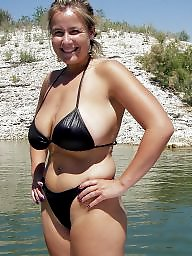 Downblouse, Bikini, Dress, Mature bikini, Mature downblouse, Dressed