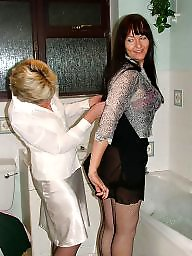 Mature lesbian, Wet, Mature lesbians, Wet panties, White panties, Mature panties
