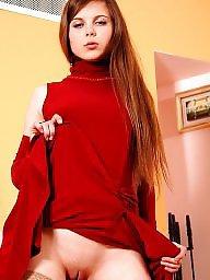 Upskirt, Young, Lady, Ladies, Upskirts, Teen stockings
