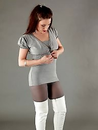Boots, Pantyhose, Thighs, Grey