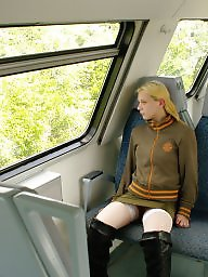 Riding, Flashing, Public, Train, Ride, Public flashing