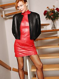 Leather, Femdom milf, Beautiful milfs, Milf leather