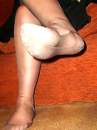 Nylon, Stockings, Mature nylon, Nylon mature, Foot, Mature nylons