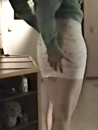 Skirt, Tight ass, Lace, White, Skirts, Tight skirt