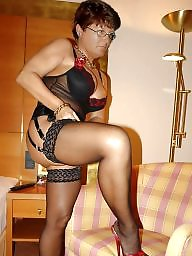 Lingerie, Mature lingerie, Stocking mature