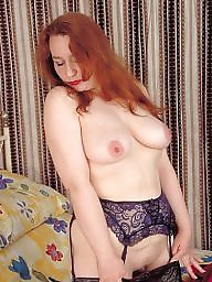 Fur, Red, Stocking, Natural, Hairy redhead