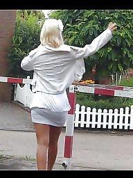 Upskirt, Blonde, Public, Upskirts, Blond, Nudity